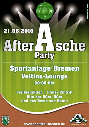 Das Plakat der After Asche Party