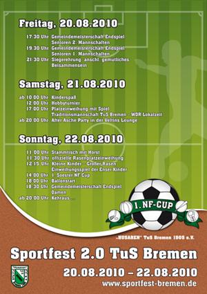 Das Programmplakat des Sportfestes